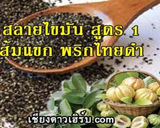 ยาสลายไขมัน สูตร ส้มแขกพริกไทยดำ