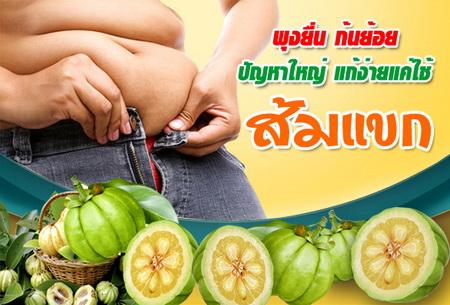 ลดน้ำหนัก ขับไขมัน ส้มแขก ขจัดไขมัน ลดความอ้วน